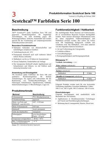 3M™ Scotchcal™ Farbfolie Serie 3690 - IBZ Industrie AG