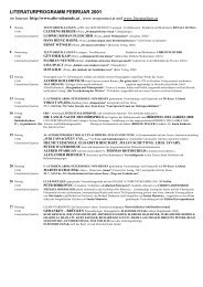 LITERATURPROGRAMM FEBRUAR 2001 - Alte Schmiede