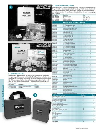 Radnor® Bulk First Aid Cabinets - Airgas Catalog Selector