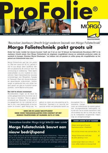 Profolie januari 2007 - Morgo Folietechniek