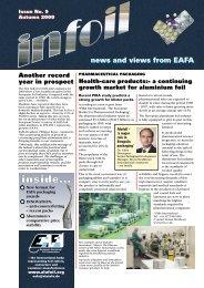 news and views from EAFA - European Aluminium Foil Association