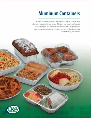 Aluminum Containers - D&W Fine Pack