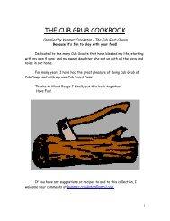 Cub Grub Cookbook - Balboa Oaks District