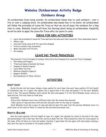 Webelos Scientist Activity Badge Worksheets - Worksheets