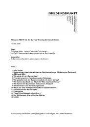 """Survival-Training """"Katalog und Kunstbuch"""" - IG Bildende Kunst"""