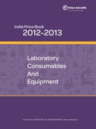 Laboratory Consumable and Equipment Price Book 2012-13