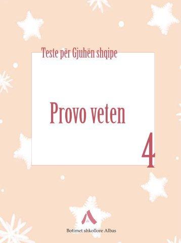 Testet Gjuha Shqipe 4 - Albas