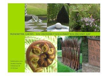 Trendsetter Garten – Was verändert? Was kommt? Was zeichnet aus?