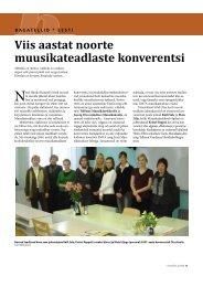Viis aastat noorte muusikateadlaste konverentsi