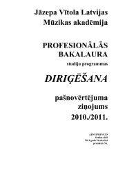 Pašnovērtējumam pievienojamie pielikumi - Music in Latvia