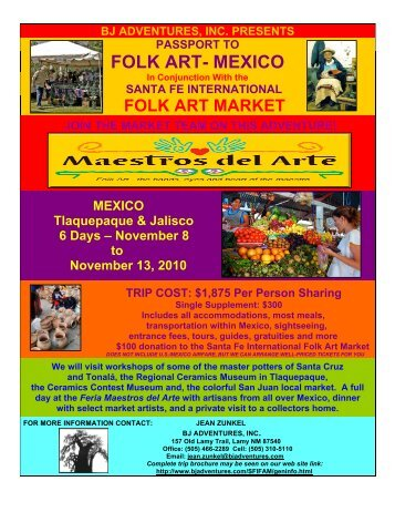 FOLK ART- MEXICO - BJ Adventures