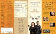 Northern Lights Folk Club Concert Listings
