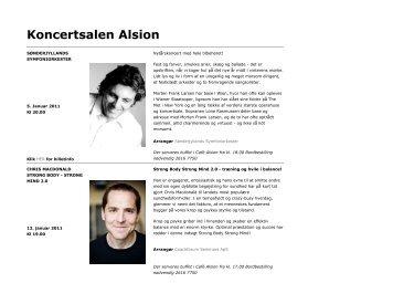 Program for Alsion - Danhostel Sønderborg Vollerup