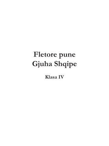 Fletore pune Gjuha Shqipe - Media Print