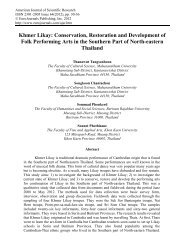 Khmer Likay: Conservation, Restoration and Development of Folk ...