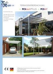 Montageanleitung für die Terrassenüberdachung - Rollo Rieper