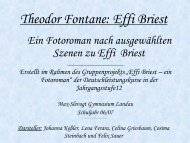 Effi Briest – ein Fotoroman - MSG Landau