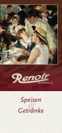 Speisekarte Walle - Renoir