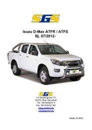 D-Max Typ ATFR / ATFS Bj. ab 07 - SGS