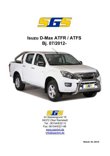D-Max Typ ATFR / ATFS Bj. ab 07 - SGS