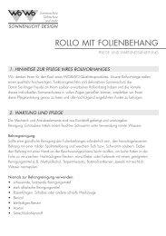 ROLLO MIT FOLIENBEHANG - Wo&Wo