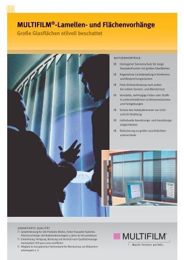 MULTIFILM®-Lamellen- und Flächenvorhänge