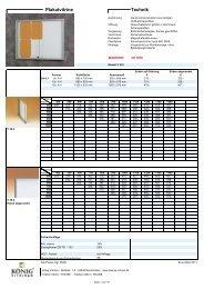 Produktinformationen und Preisliste Plakatvitrinen (Innenbereich)