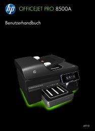 HP Officejet 8500A (A910) e-All-in-One series User Guide - DEWW