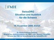 3. Sitzung der FMH-Arbeitsgruppe Helvetisierung - Medifuture