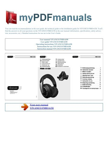 kopplar magazines rh yumpu com vivanco universal controller ur12 user manual Manuals in PDF