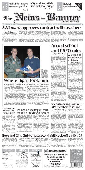 Where flight took him - Bluffton News Banner