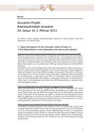 Bericht über den Arbeitsaufenthalt in Jerusalem im ... - Lassalle-Institut