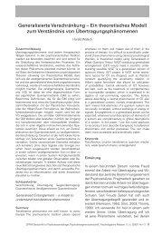 Generalisierte Verschränkung - Lassalle-Institut