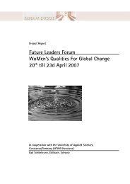 Future Leaders Forum WoMen's Qualities For ... - Lassalle-Institut