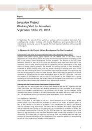 Report on working visit to Jerusalem, September ... - Lassalle-Institut
