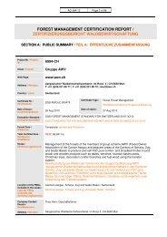 forest management certification report / zertifizierungsbericht ... - AWV