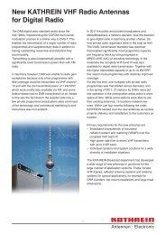 New KATHREIN VHF Radio Antennas for Digital Radio