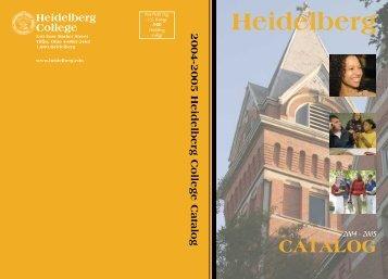 2004-2005 Catalog - Heidelberg University