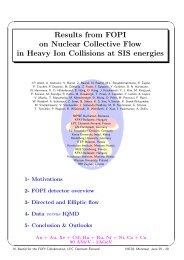Results from FOPI on Flow in Heavy Ion - McGill Physics