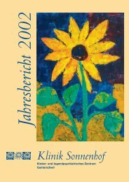 Sonnenhof Jahresbericht 2002 - Klinik Sonnenhof