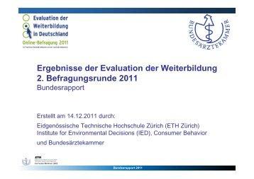 Bundesrapport 2011 - Bundesärztekammer
