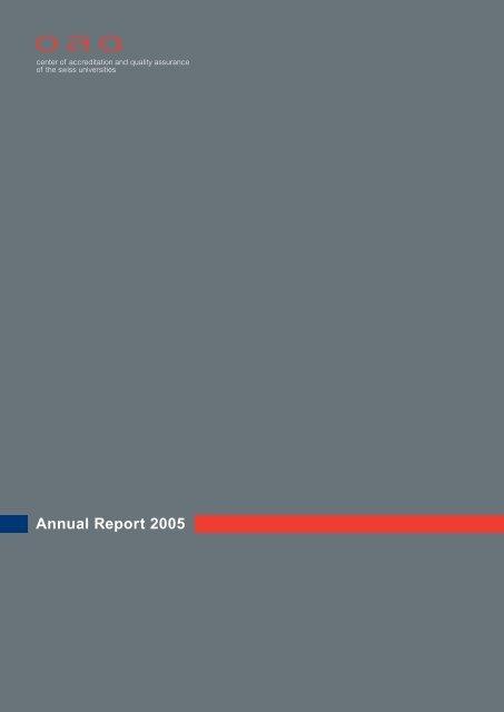 Annual report 2005, PDF - OAQ Organ für Akkreditierung und ...