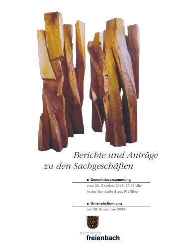 Personalreglement - Gemeinde Freienbach
