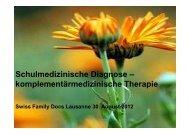 komplementärmedizinische Therapie - congress-info.ch | Home