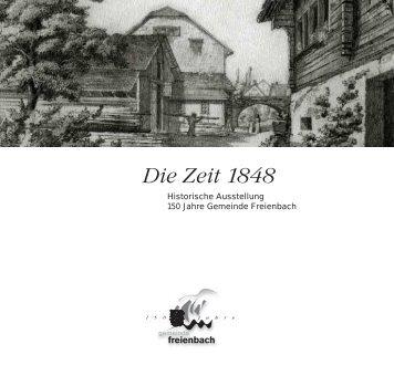 Die Zeit um 1848 - Gemeinde Freienbach