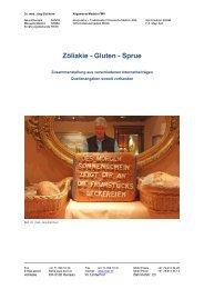 Zöliakie - Gluten - Sprue - Ever