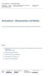 Aminosäuren – Wissenswertes und Hitlisten - Ever