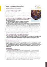 Inhoud presentaties Congres 2011: De Kracht van Samen ... - Digital