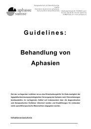 Guidelines: Behandlung von Aphasien - Aphasie.org