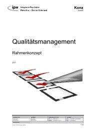 Rahmenkonzept Qualitätsmanagement (PDF, 116 kB) - Integrierte ...